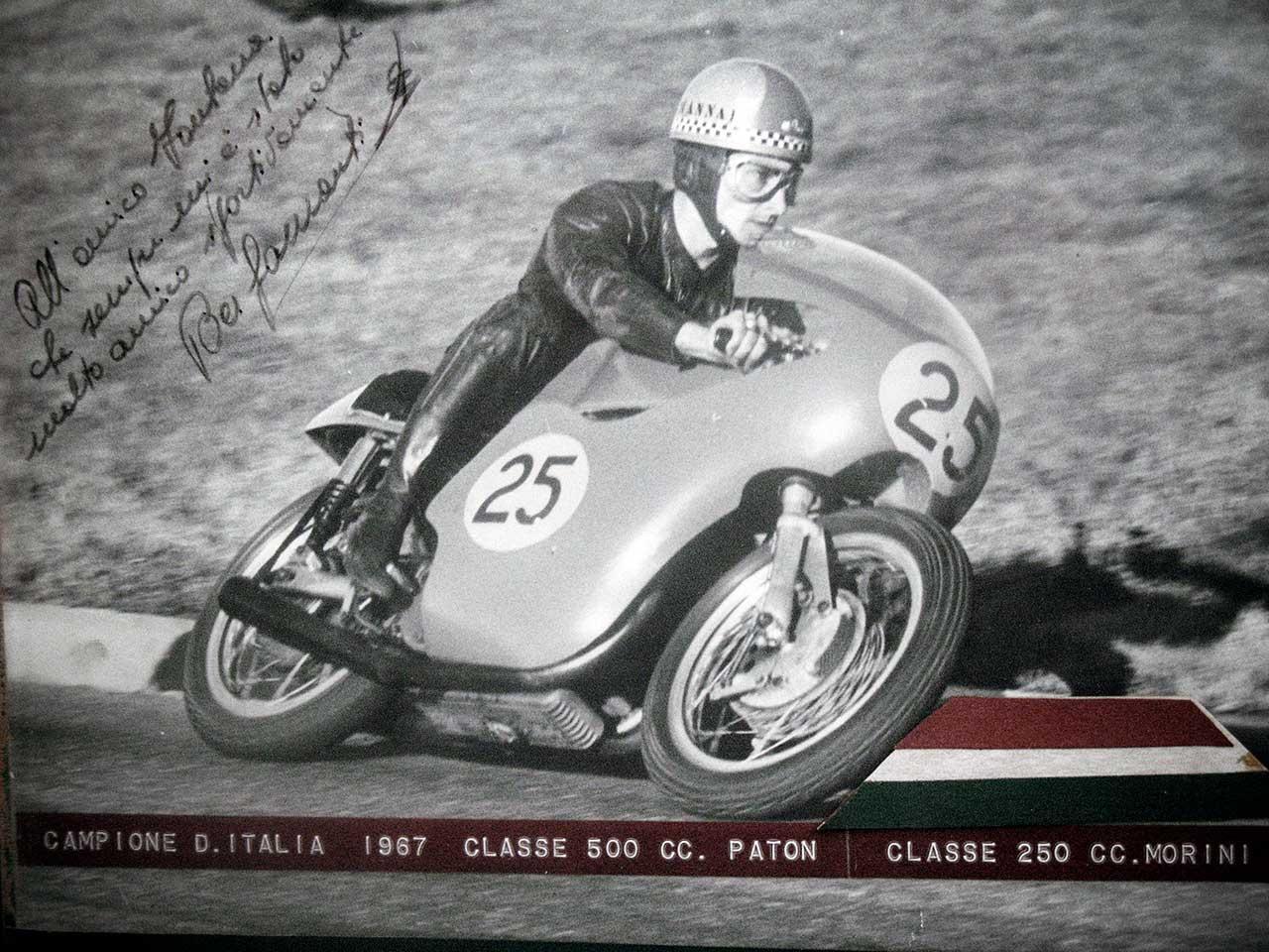 Paton_Storia-Anni60_Angelo-Bergamonti-Campione-Italiano-1967-classe-500cc